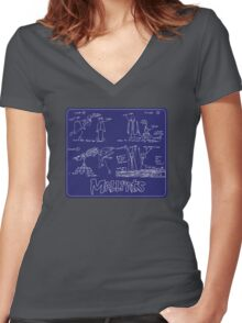 Operation Drive-By Women's Fitted V-Neck T-Shirt