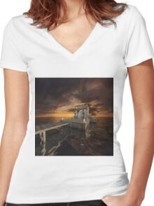 Fantasy Tower 2 Women's Fitted V-Neck T-Shirt