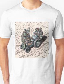 Salesman on Tractor Unisex T-Shirt