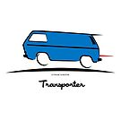 VW Bus Blue Vanagon Caravelle Transporter T3 by Frank Schuster