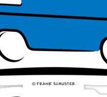 VW Bus Blue Vanagon Caravelle Transporter T3 Sticker