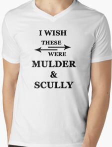 I wish these were Mulder and Scully Mens V-Neck T-Shirt