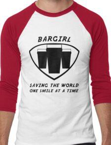 Bargirl Men's Baseball ¾ T-Shirt