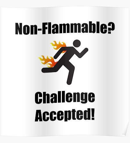 Non Flammable Poster
