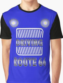 Driving logo route 66 historical highway Graphic T-Shirt