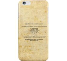Directions to monkey island iPhone Case/Skin