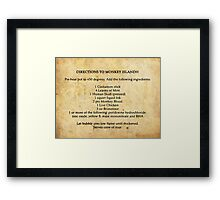 Directions to monkey island Framed Print