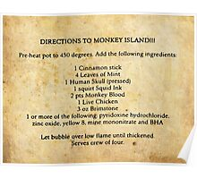 Directions to monkey island Poster