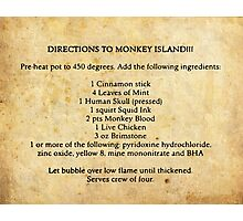 Directions to monkey island Photographic Print
