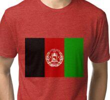 Afghanistan Flag Merch! Tri-blend T-Shirt