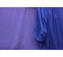 Two Sheets Abstract Purple & Blue Photographic Print