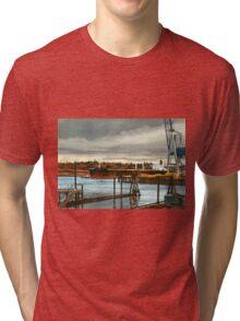 Freighter at Portland Oregon Docks Tri-blend T-Shirt