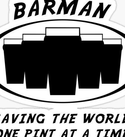 Barman Sticker