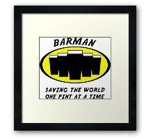 Barman Framed Print