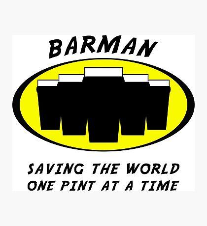 Barman Photographic Print