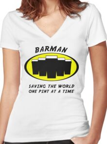 Barman Women's Fitted V-Neck T-Shirt