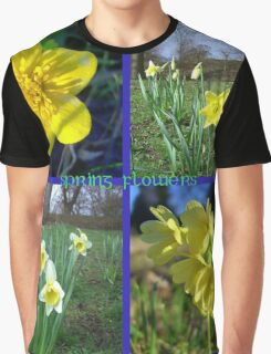 Yellow Spring flowers  ~ Marigold, Daffodils & Oxlips Graphic T-Shirt