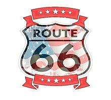 route 66 logo  Photographic Print