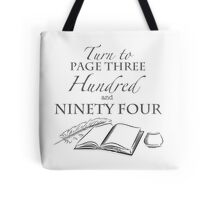 Turn To Page 394 (Professor Snape - Harry Potter books) Tote Bag