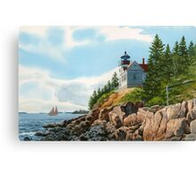 New England Coastline Canvas Print
