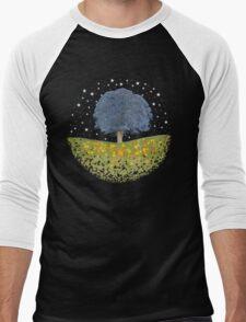 Starry Night Sky Men's Baseball ¾ T-Shirt