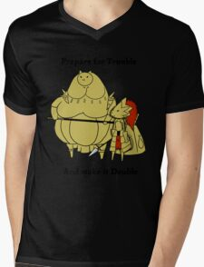 Prepare for trouble and make it double Mens V-Neck T-Shirt