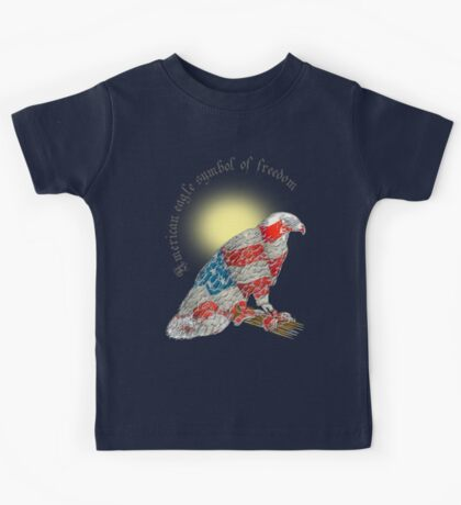 American eagle   Flag of the United States.  Kids Tee