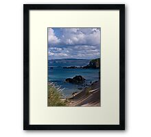 Far Flung Secret Beach Framed Print