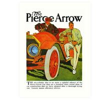 Classic American car Pierce Arrow 6 Cyl convertible ad Art Print