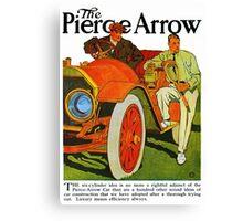 Classic American car Pierce Arrow 6 Cyl convertible ad Canvas Print