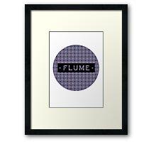 Flume - round Framed Print