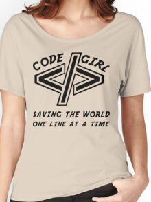 Codegirl Women's Relaxed Fit T-Shirt