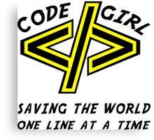 Codegirl Canvas Print