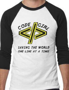 Codegirl Men's Baseball ¾ T-Shirt