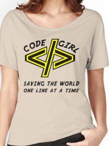 Codegirl Women's Relaxed Fit T-Shirt
