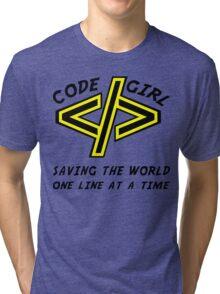 Codegirl Tri-blend T-Shirt