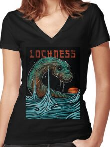 Lochness Women's Fitted V-Neck T-Shirt