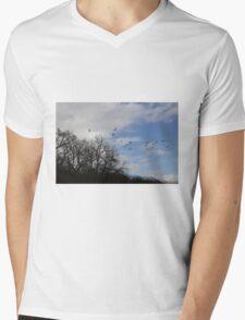 winter walks Mens V-Neck T-Shirt