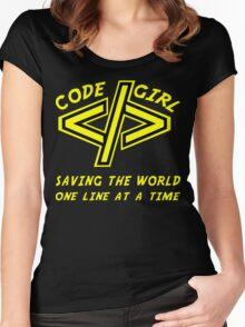 Codegirl Women's Fitted Scoop T-Shirt