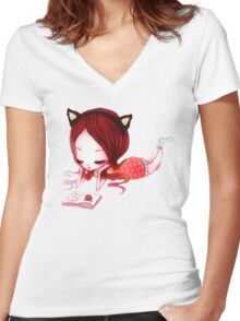 How to Be A CAT Women's Fitted V-Neck T-Shirt