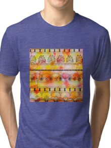 Pattern Play, Red and Yellow Tri-blend T-Shirt