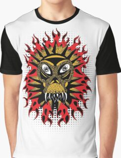 Fiery Lion Monster Graphic T-Shirt