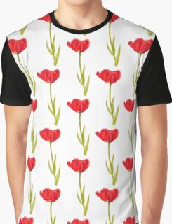 Single red tulip flower watercolor art Graphic T-Shirt