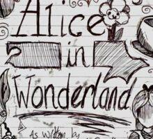 Alice in Wonderland Sketchbook Page 1 Sticker