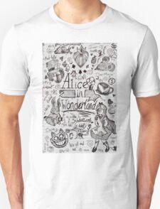 Alice in Wonderland Sketchbook Page 1 T-Shirt