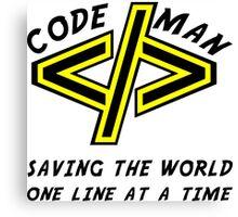 Codeman Canvas Print