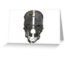 Corvo's Mask - Outlined Greeting Card