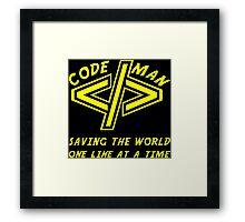 Codeman Framed Print