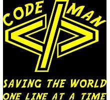 Codeman Photographic Print