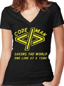 Codeman Women's Fitted V-Neck T-Shirt